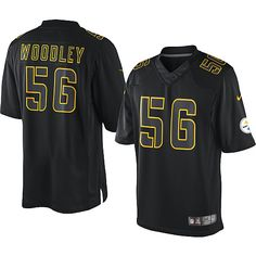 46a86a3cbe6 Nike Game Mens Pittsburgh Steelers  56 LaMarr Woodley Impact Black NFL  Jersey  79.99 Nfl Redskins