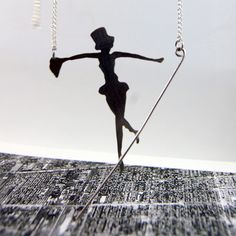 Sterling Silver Tight Rope Walker Pendant by Markhed | Flickr - Photo Sharing!