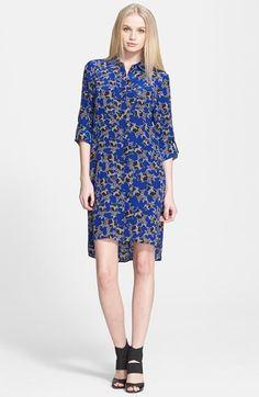 Another for the DVF Wishlist...Diane von Furstenberg 'Prita' Print Silk Shirtdress
