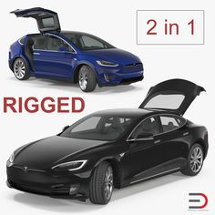 Tesla Rigged Cars Collection