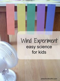 Observing the strength of the wind - Preschool Toolkit cientific Preschool Science Wind Experiment Weather Activities Preschool, Weather Science, Science Experiments For Preschoolers, Kindergarten Science, Preschool Themes, Preschool Lessons, Science Classroom, Science For Kids, Weather Unit