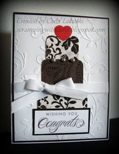 wedding card by Carol Labuski using CTMH For Always paper... gorgeous!
