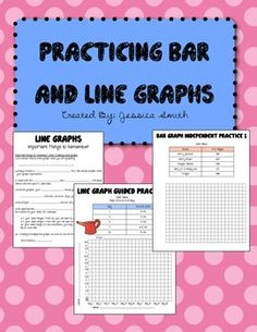 Bar Graphs Line Graphs Bundle: Guided and Independent Practice Teaching Activities, Teaching Science, Math Resources, Educational Activities, Teaching Ideas, Line Graphs, Bar Graphs, Charts And Graphs, Fifth Grade Math