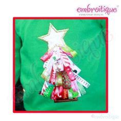 Ribbon Christmas Tree In The Hoop