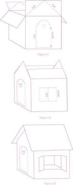 DIY Recycled Box Play House – Mencoba Sakinah