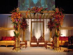 Balinese-inspired bamboo wedding canopy