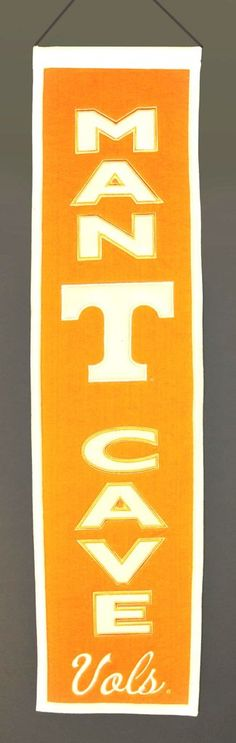 Tennessee Volunteers Banner Wool Man Cave