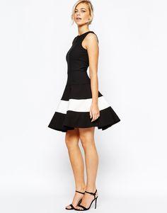 Image 4 ofCloset Skater Dress with Contrast