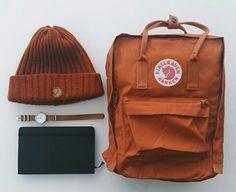 e9b13421b20b Burn orange kanken backpack aesthetic beanie watch 《HaileyThi》 Kånken  Rucksack