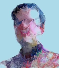 The Generative Portraiture of Espen Kluge — Artnome Generative Art, Wireframe, String Art, Three Dimensional, Cool Drawings, How To Draw Hands, Sculptures, Illustration Art, Animation