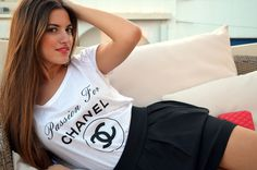 Passion for Chanel in white Christmas Countdown, Giveaway, Chanel, Passion, T Shirts For Women, Stylish, Magazine, Tops, Self