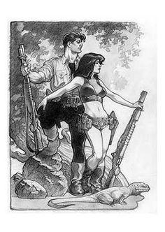 Jack Tenrec & Hannah Dundee from 'Xenozoic Tales' by Mark Schultz.