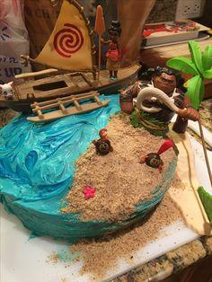Moana Birthday Cake All Done In Buttercream Sweet Cheeks Ideas - Maui birthday cakes