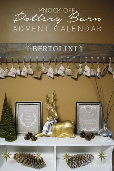 Knock Off Pottery Barn Advent Calendar - #DIYGift It all started when I got Pottery Barn's catalog in the mail... I sat down to eat some lunc…