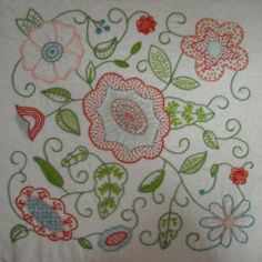 Embroidery Pattern See B&W Version  From Hazel's Summer Wildflowers, Block 2  for her Quilt at hazelsdiary.wordpress.com. jwt Continue with website to get remainder of Patterns. jwt