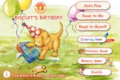 Biscuit's Birthday is perfect for encouraging early readers with interactive animations and sound effects on every page.