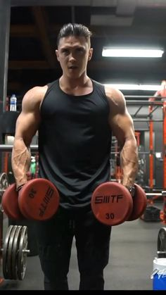 Big Biceps Workout, Abs And Cardio Workout, Gym Workout Tips, Dumbbell Workout, At Home Workouts, Shoulder Workouts For Men, Shoulder Workout At Home, Shoulder Exercises, Workout Videos For Men