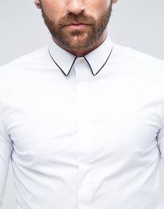 Plain White Shirt, White Shirts, Casual Shirts, Casual Outfits, Men Casual, Asos Online Shopping, Online Shopping Clothes, Latest Fashion Clothes, Men Fashion