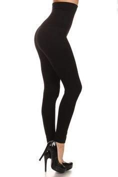 These high waist tummy control leggings are perfect for that little pouch that has a mind of its own.