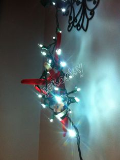 """Detangling the lights...very """"Griswald""""."""