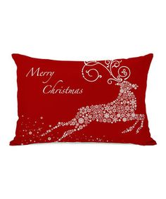 Give furniture new life with the addition of this festive pillow. Not only does it add an extra touch of plush comfort, but it's also the perfect way to winterize any design scheme.