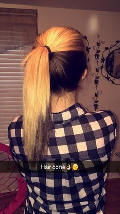 Blonde on top and brown underneath.