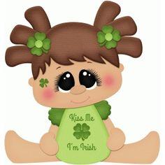 Silhouette Design Store - View Design #75437: kiss me i'm irish baby girl