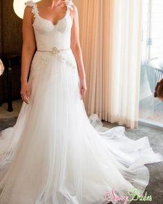 Pallas Couture · Princess Amorette · A-line · Lace · Ivory · Size 8