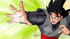 Black Goku, fanart Cesar Paine.