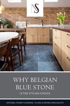 Belgian blue limestone tiles are a truly versatile and durable stone that works well as a bathroom or kitchen floor tiles, as well as being adaptable in garden rooms, landscaping and design. They can range from almost black through to a powdery blue-grey – all with unique fossils, speckles and small veins throughout. Find out more about this tile which is classic home design at its best, over on the blog. #naturalstoneconsulting #classichomedesign #naturalstoneflooring #limestonetiles Bathroom Floor Tiles, Wall Tiles, Tile Floor, Limestone Tile, Stone Tiles, Belgian Blue, Flagstone Flooring, Natural Stone Flooring, Stone Cladding