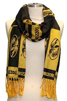 GREAT DEALS ON SALE & CLEARANCE ITEMS! Missouri Tigers Black and Gold Shawl Scarf Featuring Team