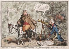 Gillray 1791 art print Britannia Britain humorous satirical map England Wales J