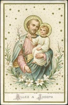 ALLEZ A JOSEPH - Holy Card / Image pieuse / Heiligenbild   Flickr: Intercambio de fotos