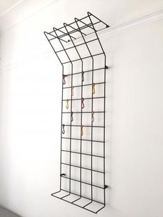 Mid-Century German Geometric Grid Coat Rack by Karl Fichtel for Drahtwerke Erlau A.G. Aalen, 1950s for sale at Pamono