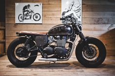 Triumph Bonneville Bobber created by BAAK french creative  motorcycle workshop.  #Bonneville #T100 #Triumph #Bobber