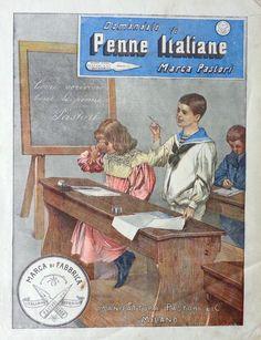 Penne Pastori. Pubblicità 1900
