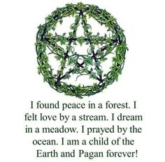 I was Pagan before i knew what Pagan was.   I found peace in a forest... . Follow me @Amber Sheffield Collections . Visit Paranormalcollections.com to see more cool pagan magick stuff.