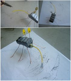 You can make a little robot with your kids that will draw on its own!