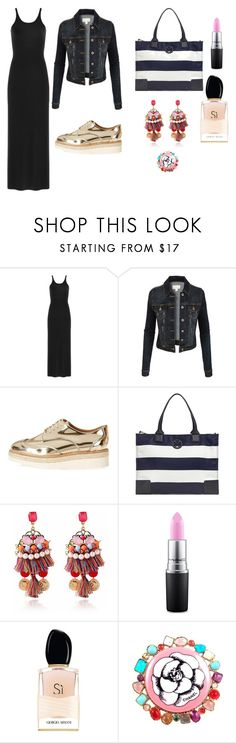 mix and match by janka-dzurillova on Polyvore featuring T By Alexander Wang, LE3NO, River Island, Tory Burch, Chanel, MAC Cosmetics and Giorgio Armani