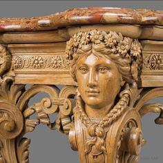 A Fine Regence Style Carved Limewood Console Table With A Brèche d'Alep Marble Top
