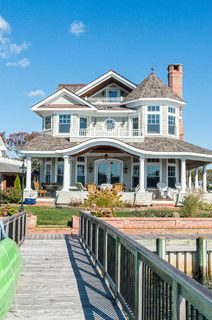 Riverfront Living - beach style - exterior - new york - by CMM Construction Inc.