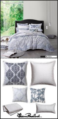 FLORENCE BROADHURST - Arabian Birds Navy Quilt Cover Set #navy #blue #white #summer #bedroom #decor #duvet #floral