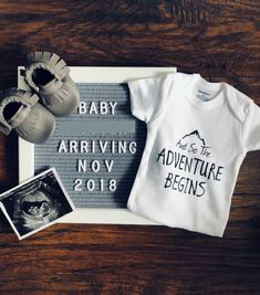 What a great way to do your baby announcement! Love it!