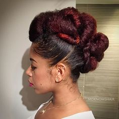 Updos are my thing. It's like sculpting. Making art. It's actually rather soothing to do! I can probably manage a tutorial pending I recall all the things I did ad lib to get this... #moknowshair #queendom #darkandlovelynola #moknowsdarkandlovely #essencefest #nola #teamnatural_ #curlbox #protectivestyles #naturalhairdoescare #nhdaily #modernsalon