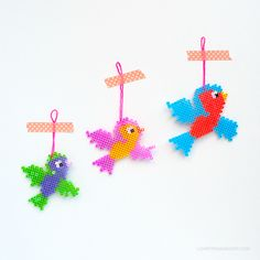 DIY Flying Hama Bead Birds | Love From Ginger