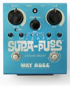 Way Huge WHE707 Supa-Puss - analog, tap-tempo, seemingly a super-cool pedal.