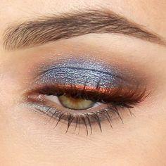 "Blu-silver smoky eyes with Copper eyeliner! Tutorial on YouTube ""MrDanielmakeup"""
