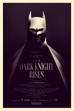 Another clever design. | Olly Moss - The Dark Knight Rises - Variant, 2012