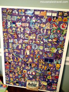 Pin bulletin board - learn more about pin collecting with Krista Miller from Mouse Tales Travel