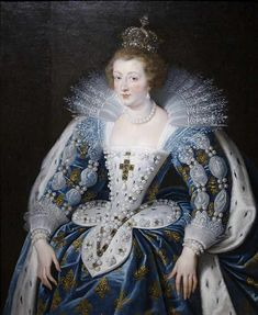 Anne d'Autriche by Peter Paul Reubens, 1622-25 France She's wearing the same dress as her mother, Maria de Medici, wore in her last portrait.